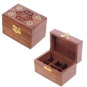 Sheesham Wood Floral Compartment Box Small