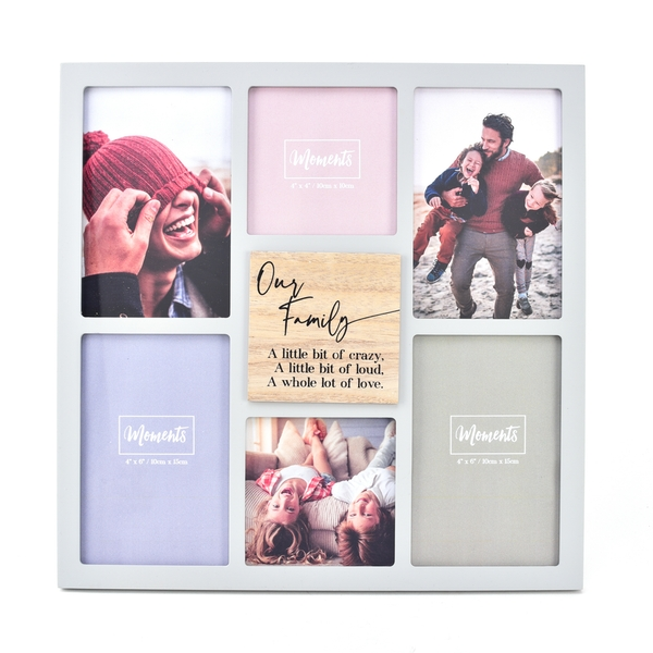 Moments Wooden Collage Frame - Our Family