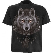 Spiral Wolf Dreams X-Large Black T-Shirt Large Black