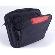Approx Elegant Nylon Bag with Multiple Compartment for 15.6-Inch Laptops - Black/Red