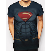 Superman - Sublimated Costume Men's Large T-Shirt - Blue