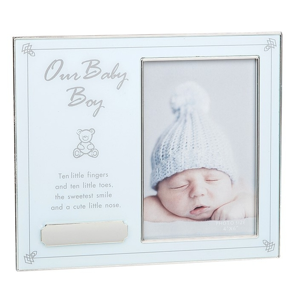 Our Baby Boy Engraveable Frame 4x6