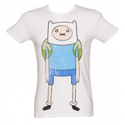 Adventure Time Finn T-Shirt X-Large White