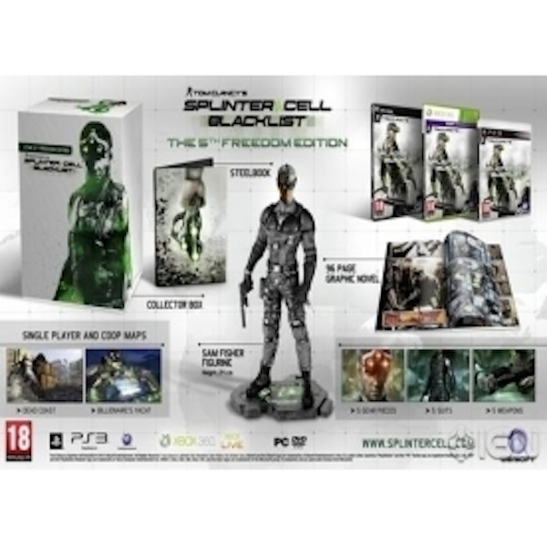 Tom Clancys Splinter Cell Blacklist 5th Freedom Edition Game Xbox 360