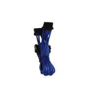BitFenix Alchemy Molex to 3x Molex Adapter 55cm sleeved blue/blue
