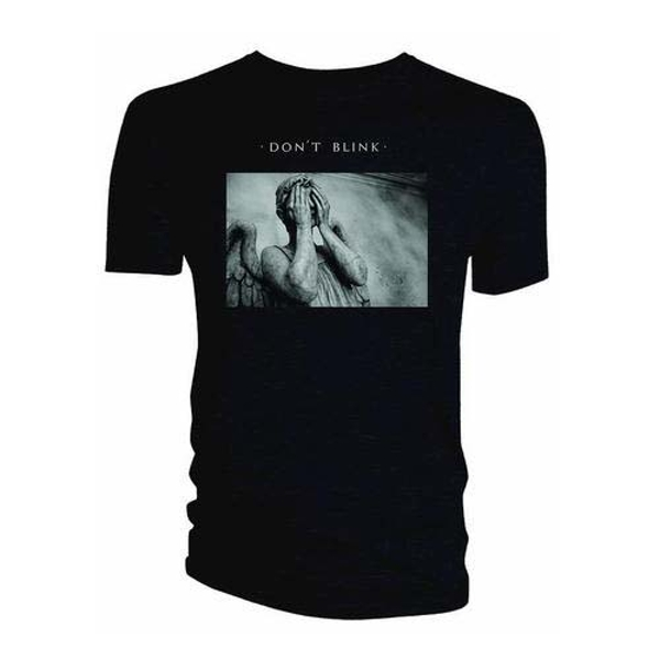 Doctor Who - Weeping Angel Album Don't Blink Women's Large T-Shirt - Black