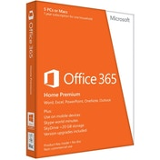 Microsoft Office 365 Home Microsoft Office 365, Home Premium, Licence Card, 5 Users, 1 year subscription (PC/Mac)