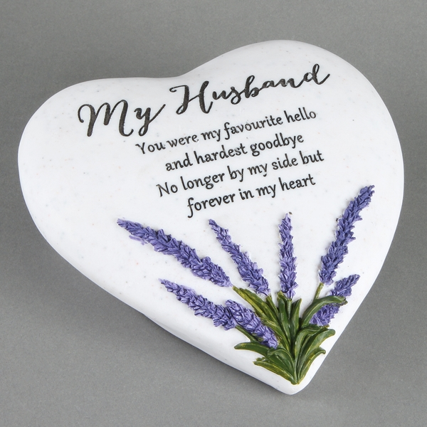 Thoughts Of You 'Husband' Memorial Heart Stone