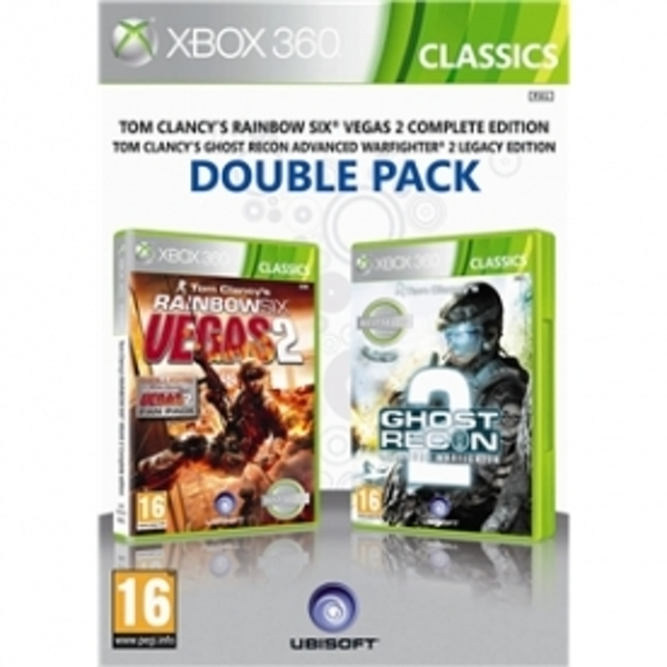 Ubisoft Double Pack Ghost Recon Advance Warfighter 2 & Tom Clancys Rainbow Six Vegas 2 Game Xbox 360