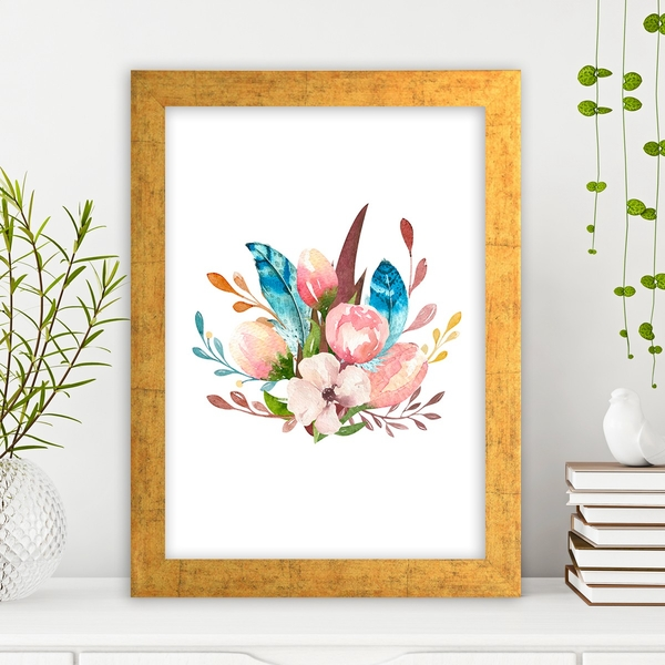 AC1035563785 Multicolor Decorative Framed MDF Painting