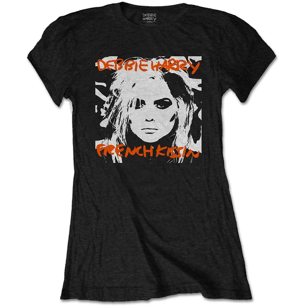 Debbie Harry - French Kissin' Women's Large T-Shirt - Black