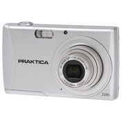 PRAKTICA Luxmedia Z250 Silver Camera Kit inc 16GB SDHC Class 10 Card & Case