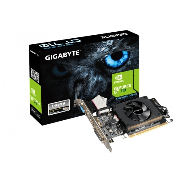 Gigabyte GV-N710D3-1GL NVIDIA GeForce GT 710 PCI Express 2.0 1 GB Graphics Card - Multi-Colour