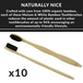 Bamboo Toothbrushes - Set of 10 | M&W - Image 4