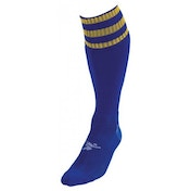 PT 3 Stripe Pro Football Socks Boys Royal/Gold