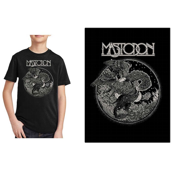 Mastodon - Griffin Kids 7 - 8 Years T-Shirt - Black