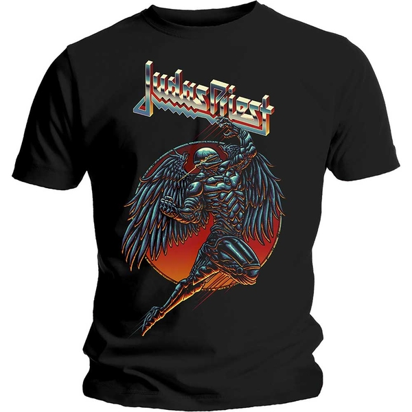 Judas Priest - BTD Redeemer Unisex Large T-Shirt - Black