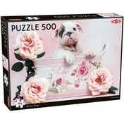 Puppy & Roses 500 Piece Jigsaw Puzzle