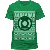 Green Lantern - Fair Isle Logo Men's Small T-Shirt - Green