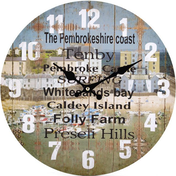 Pembrokshire Coast Theme Wall Clock