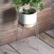 Metal Flower Pot Stand Silver | M&W - Image 2