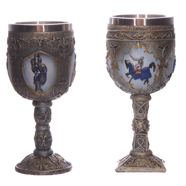 Decorative Fantasy Knight Goblet (1 Random Supplied)