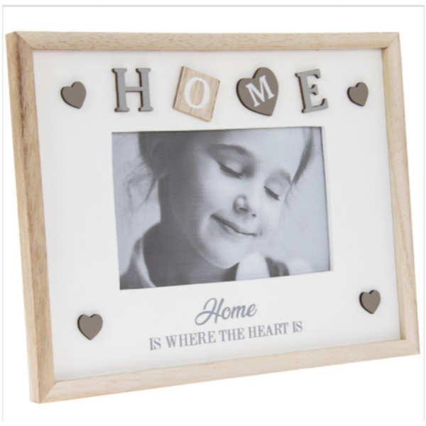 "Sentiments Frame Home 4X6"" By Lesser & Pavey"