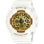 Casio BA120LP/7A2ER Baby-G Watch with Resin Strap White