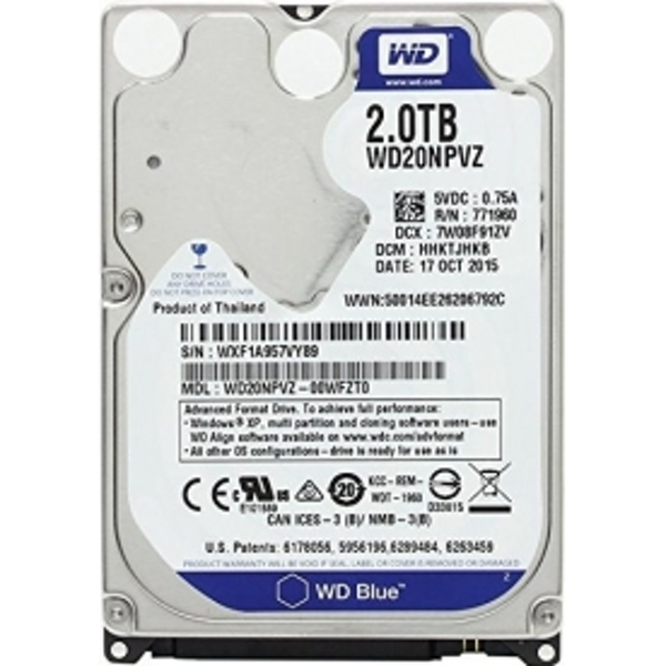 Western Digital 2 TB Hard Drive Blue