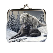 Snow Kisses Wolf Coin Purse