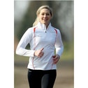 "PT Ladies Running L/S 1/4 Zip Top White/""Sun"" Orange UK Size 12 36inch"