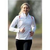 PT Ladies Running L/S 1/4 Zip Top White/