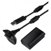 Elite Official Microsoft Play & Charge Kit Black Xbox 360
