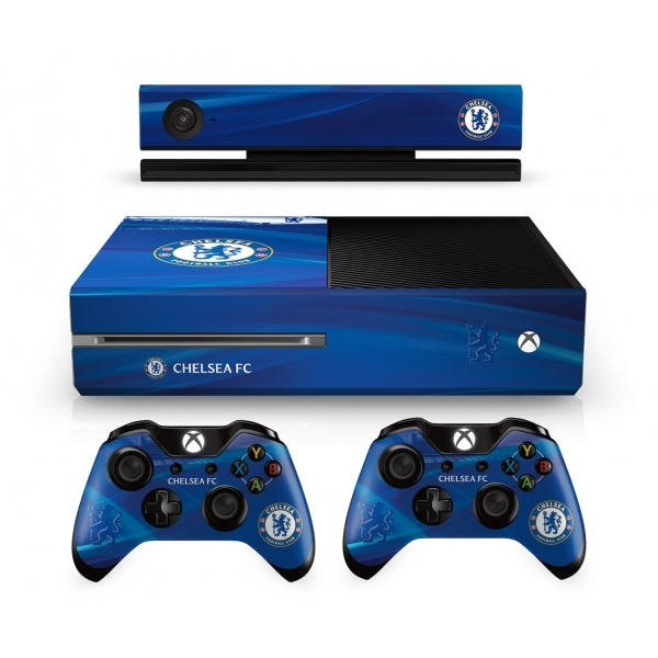 Official Chelsea FC Xbox One Console Skin and 2x ... Official Xbox One Console