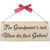 The Grandparent's Nest Hanging Sign