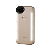 LuMee Duo Phone Case for iPhone 6/6S/7/8 Plus Matte Gold