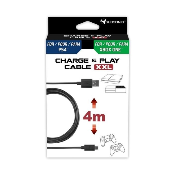 Subsonic Play & Charge Cable XXL PS4 Xbox One - ozgameshop com