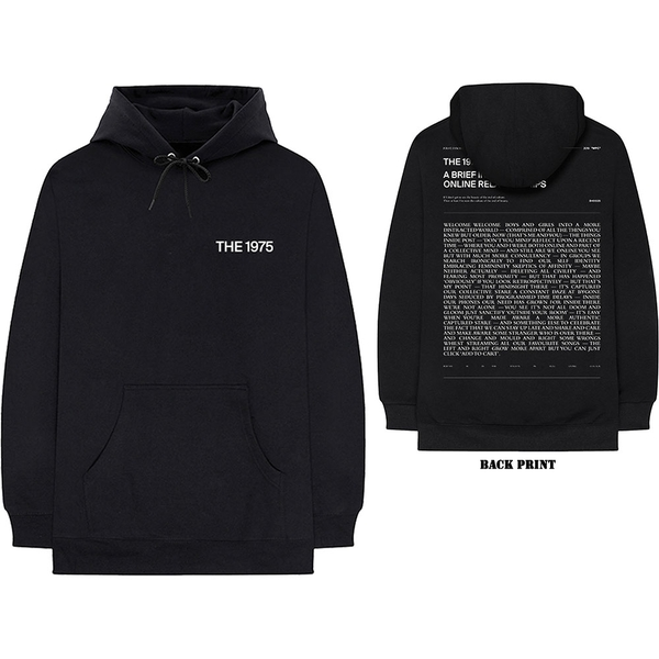 The 1975 - ABIIOR Welcome Welcome Version 2. Unisex Large Hoodie - Black