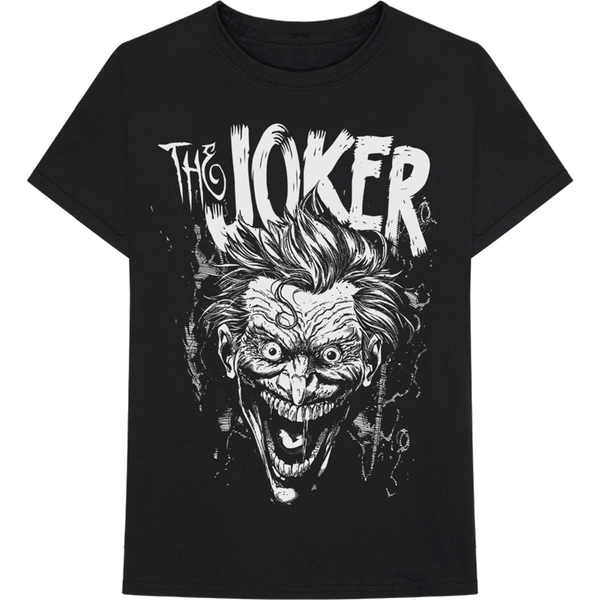 DC Comics - Joker Face Unisex Large T-Shirt - Black