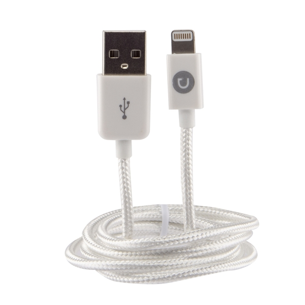 Urbanz INC-LC1-WH Braided Cord Lightning Cable for iPhone & iPad - White