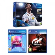 PS4 500GB FIFA 18 Console + Gran Turismo Sport + Singstar Celebration Bundle