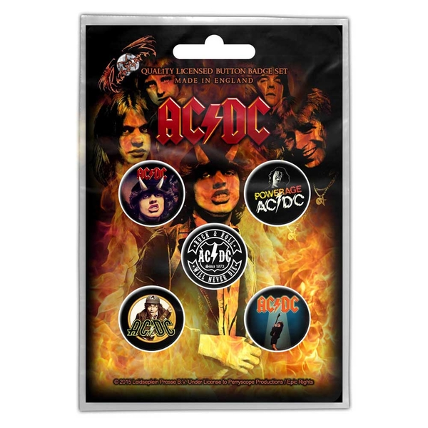 AC/DC - Highway to Hell Button Badge Pack