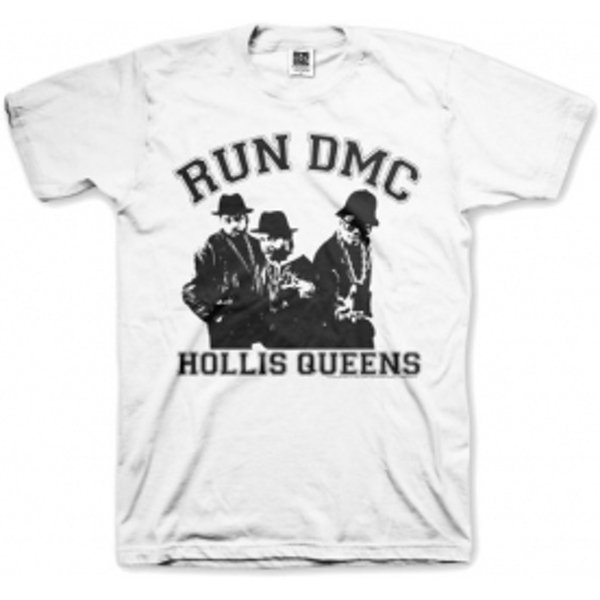 Run DMC Hollis Queen Pose White Mens T Shirt: Small