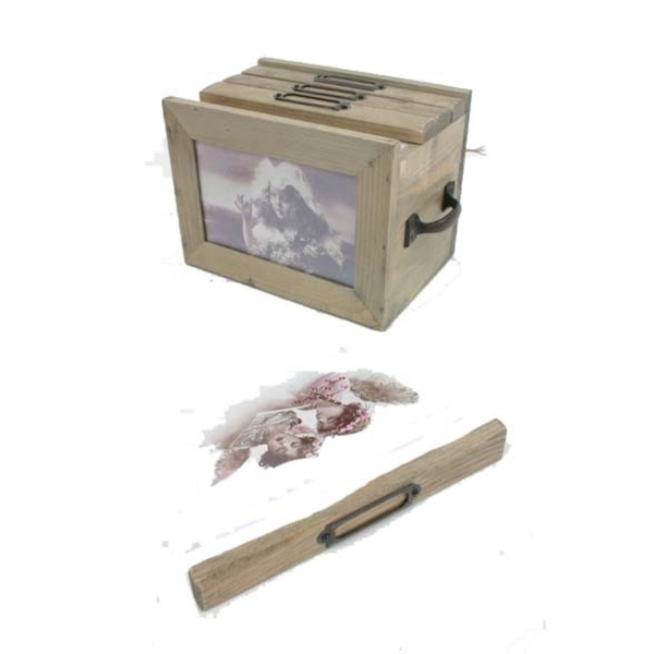 Wooden Photo Box With Drawers By Heaven Sends