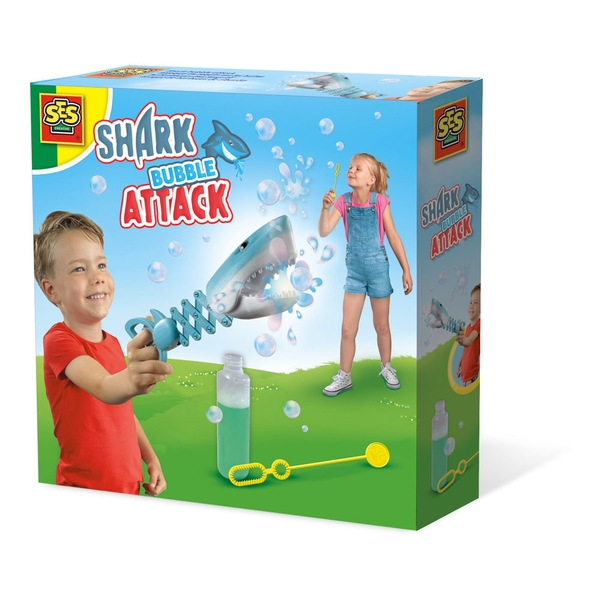 SES Creative - Children's Shark Bubble Attack (Multi-colour)