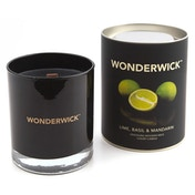 Lime, Basil and Mandarin (Wonderwick) Noir Crackling Candle