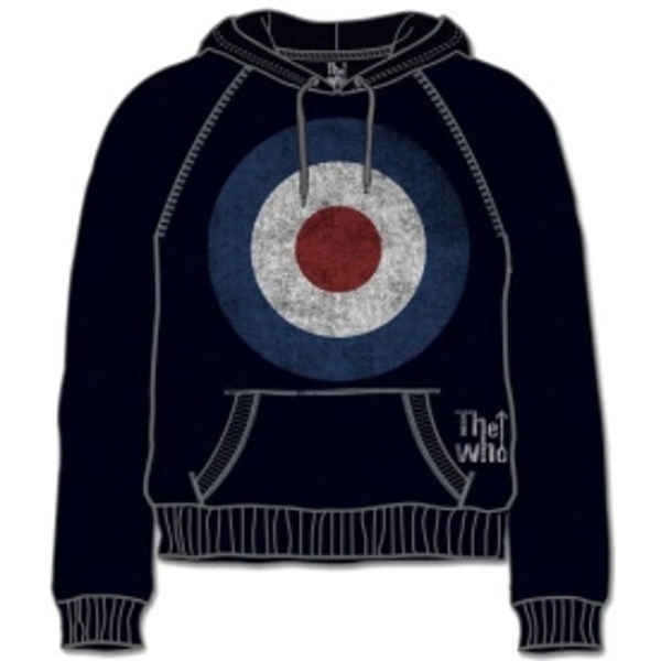 The Who Target Distressed Black Mens Hoodie Size: X Large