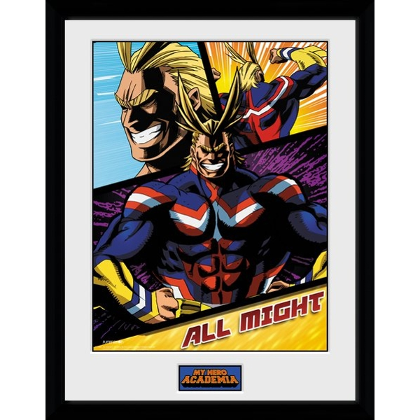 My Hero Academia All Might Panels Framed Collector Print