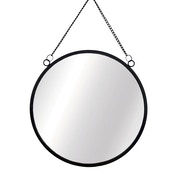 Sass & Belle Jet Black Round Mirror