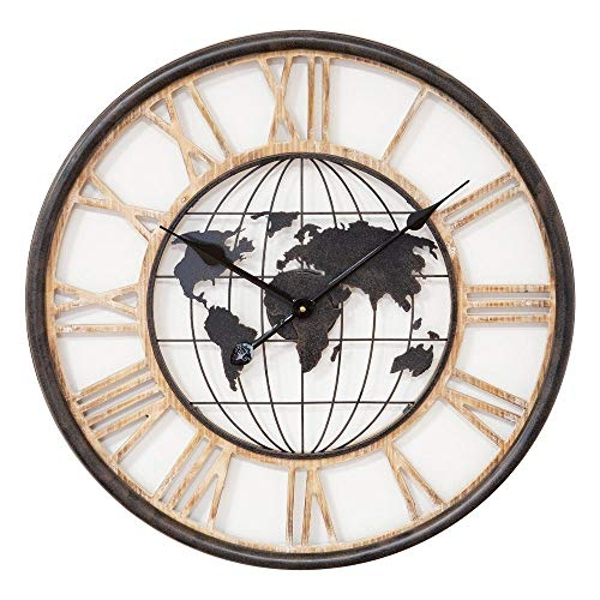 Hometime Round Wall Clock Cut Out Dial 60.5cm